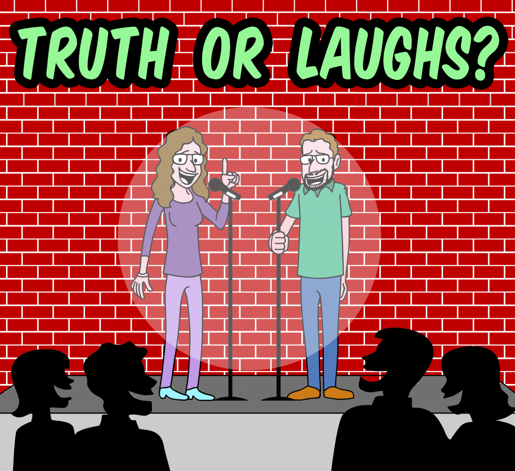 Truth or Laughs logo